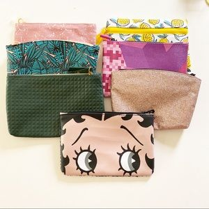 Bundle of 7 Ipsy Makeup Bags